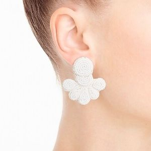 J.Crew Beaded Flutter Earrings